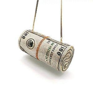 MONEY ROLL CRYSTALS CASUAL CUTCH